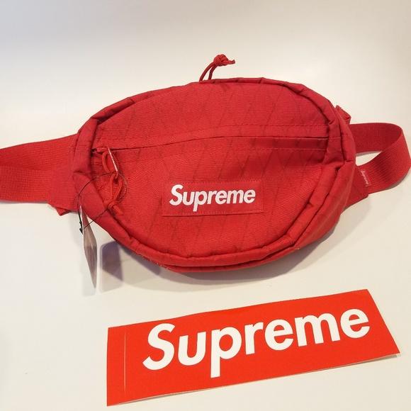 3363d65eda65 Supreme Bags | Waist Bag Red Fanny Pack Box Logo Fw18 | Poshmark